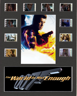 The World Is Not Enough 007 Replica Film Cell Presentation 10x8 Mounted 10 Cells • 23.49£