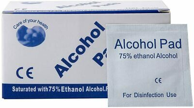 ALCOHOL 75% Swabs Wipes Pads Tattoo Nail CPU Phone Antiseptic Cleanser Cleaning • 4.99£