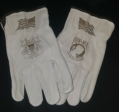 $20 • Buy US Coast Guard / POW-MIA Leather Gloves For Driving Or Working Around The House