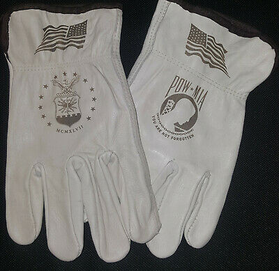 $20 • Buy US Air Force / POW-MIA Leather Gloves For Driving Or Working Around The House