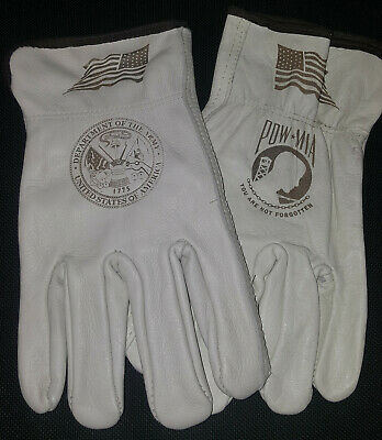 $20 • Buy US Army / POW-MIA Leather Gloves For Driving Or Working Around The House