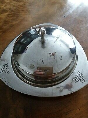 Vintage Silver Plated Butter Dish • 4£