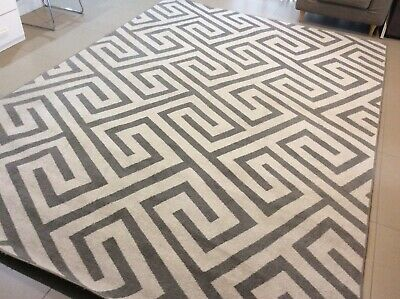 AU60 • Buy Large Grey/white Floor Rug - Marquee Collection