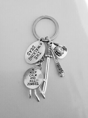 £7.99 • Buy KEYRING The Walking Dead Inspired Keep Calm And Kill Zombies & Characters Charms