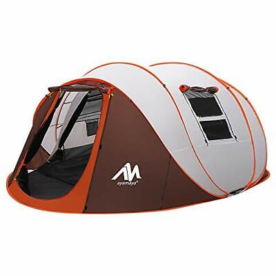 Tent 4-6 Person/Man, Camping Instant Pop Up Tents [5 Window] Waterproof Double • 293.99£