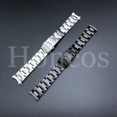 $ CDN28.53 • Buy 22mm CURVED STAINLESS STEEL OYSTER BRACELET FIT SEIKO 7S26,SKX007,SKX009,SKX011