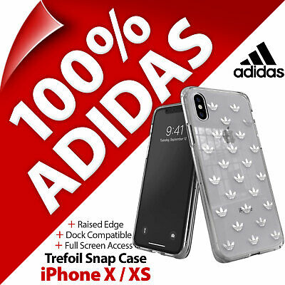 AU39.36 • Buy Adidas Originals Trefoil Logos Snap Clear Case Cover For Apple IPhone X / XS