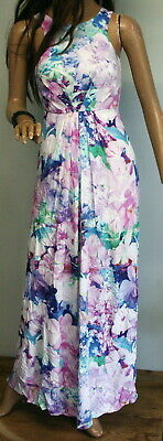 AU15 • Buy Gorgeous FOREVER NEW Floral Print VISCOSE Fully Lined Maxi DRESS Size 6
