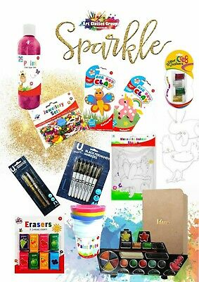 Arts & Crafts Box And Painting Set, Gifts For Girls - Age 5 Plus, Pack Of 12 Pcs • 18.99£