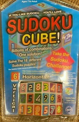 Sudoku Cube By Jay Brain Teaser Puzzles New In Package W/ Instructions Booklet • 9.19£