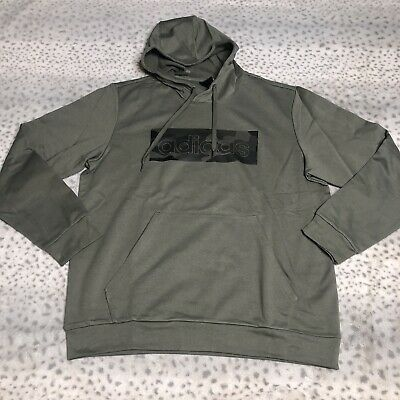 $39.99 • Buy Adidas Camouflage Box Logo Hoodie Mens Size XL Legend Green Pullover Regular Fit