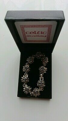Celtic Jewellery Silver Rose  Design Knot Bracelet • 4£