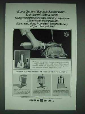 $ CDN23.12 • Buy 1965 GE Slicing Knife, Deluxe Automatic Blender Ad