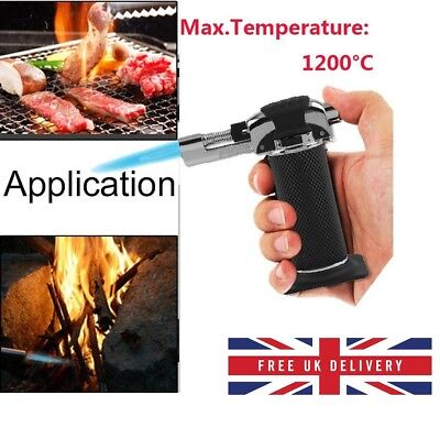 Refillable Butane Gas Micro Blow Torch Lighter Welding Soldering Brazing Tool UK • 7.39£