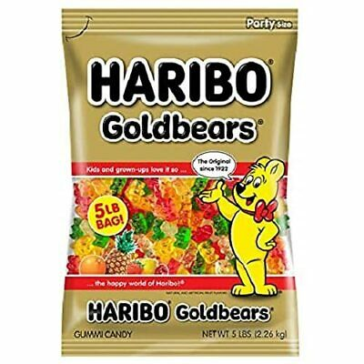 $19.89 • Buy Haribo Gold-Bears Gummi Candy, Original Flavor, 5-Pound Bag