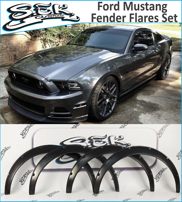 $ CDN155.12 • Buy Ford Mustang 05-15 Fender Flares Wide Arches Extensions ABS Plastic 5th 2.0 Inch