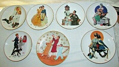 $ CDN3.93 • Buy LOT OF 7 NORMAN ROCKWELL COLLECTIBLE PLATES 8.5 Inch