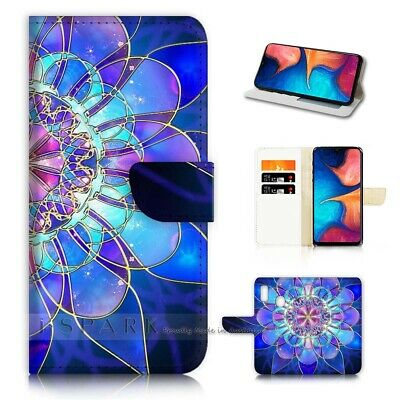 AU12.99 • Buy ( For Huawei Y9 Prime [2019])  Flip Case Cover AJ40387 Abstract Flower