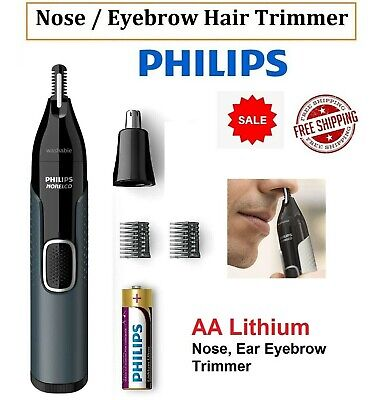 AU38.90 • Buy PHILIPS Mens Nose Ear Eyebrow Hair Trimmer Shaver Cordless Grooming Kit Lithium
