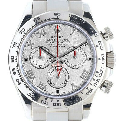 $ CDN61722.86 • Buy Rolex Daytona 116509 18k White Gold Watch Rolex Meteorite Roman Dial Mint