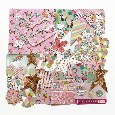 Birthday Party Scrapbook Kit, Celebrate Journaling Paper Embellishments Han • 9.50£