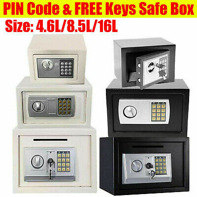 Fireproof Electronic Password Security Safe Money Cash Deposit Box Office Home • 34.43£