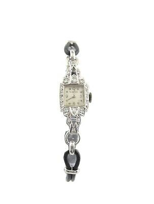 Blancpain 1920's Lady's Platinum And Diamond Cocktail Watch • 695£