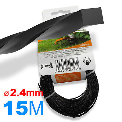 Ø 2.4mm X 15M // WIRE CORD / SPIRAL STRIMMER LINE Petrol Strimmers // HEAVY DUTY • 3.89£