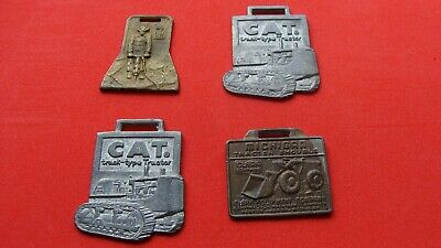 $19.56 • Buy (4) Vintage Caterpillar-Michigan Tractor Shovels-Ingersoll Rand Key/Watch FOBS