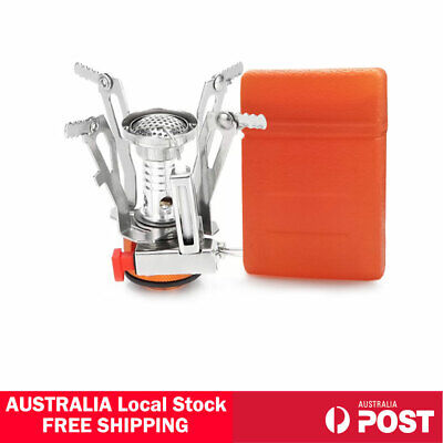 AU15.80 • Buy Outdoor Picnic Gas Burner Portable Backpacking Camping Hiking Mini Stove Cooker