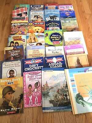 $9.99 • Buy Lot 28 Childrens Chapter Books Scholastic Troll Animal Ark Mystery Dolphins