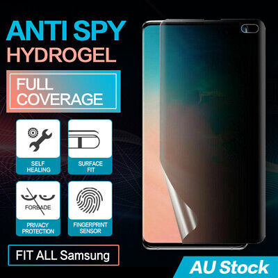 AU10.95 • Buy Samsung Galaxy Note S20 S10 9 Plus 5g Privacy Anti Spy Hydrogel Screen Protector