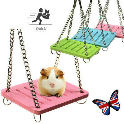 £3.99 • Buy 1PC Pet Hamster Hanging Swing Bed Rats Parrot Small Birds Exercise Play Toy