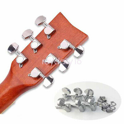 $ CDN11.61 • Buy Tuner Machine Heads Silver Tuning Pegs 3L3R For Folk Acoustic Electric Guitar
