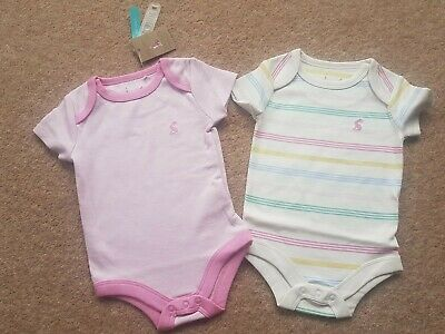 Joules Snazzy Bodysuits 2 Pack BNWT Age 0-3 Months • 11.99£