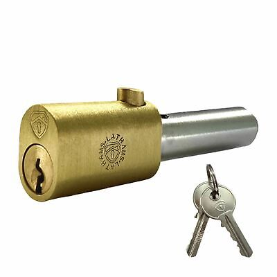 Replacement Roller Shutter Security Bullet Lock Oval Style Pin Locks (Key Alike) • 9.50£