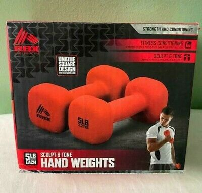 $ CDN46.86 • Buy RBX 10 LB SET POUND DUMBBELLS Square 5LB Each (2) Weight New RBX-SC3030R Red