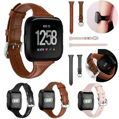 $ CDN15.70 • Buy Luxury Leather Bands Replacement Wristband Accessories Straps For Fitbit Versa