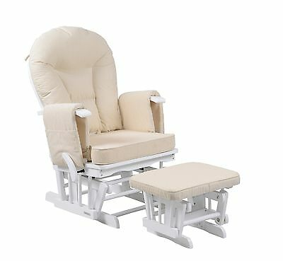 Sereno White Glider Maternity Rocking Chair With Footstool SRP£299 • 189.99£