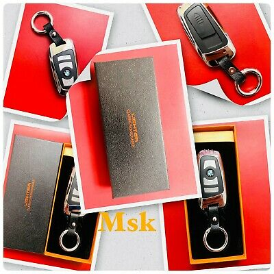 USE Rechargeable Flameless Windproof Cigarette USB Lighter Car Key BMW Key Fob • 19.99£