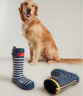£10.04 • Buy Joules Rubber Welly Dog Toy - Navy Spotty