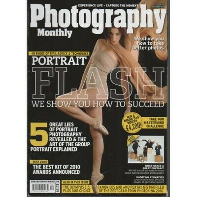 Photography Monthly Magazine December 2010 Portrait Flash Olympus E-5 Canon EOS  • 0.99£