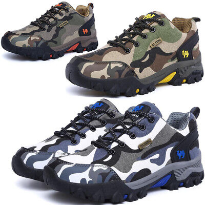 £24.29 • Buy Mens Womens Camo Hiking Trail Trekking Walking Boots Outdoor Trainers Shoes Hot