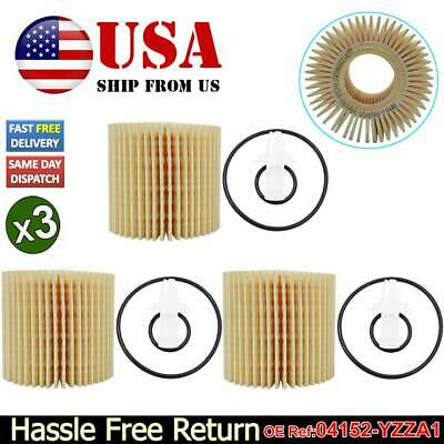 $10.99 • Buy 3pc Oil Filter 04152-YZZA1 For Toyota Avalon Camry Sienna Tacoma Lexus ES RX IS