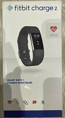 AU26 • Buy Fitbit Charge 2 Heart Rate Fitness Tracker FB407BKL Large
