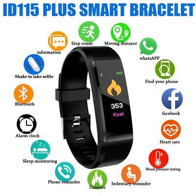 AU10.99 • Buy Smart Bracelet Fitbit Fitness Activity Tracker Heart Rate Monitor Android IOS