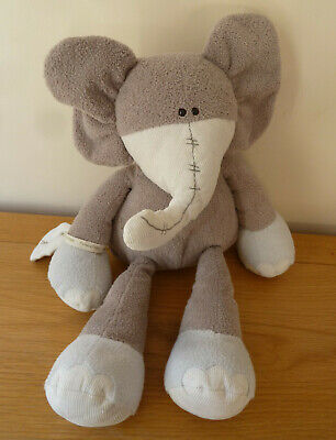 Mamas And Papas M&P Once Upon A Time Large Grey Peanut Elephant Soft Toy 17  • 10.99£