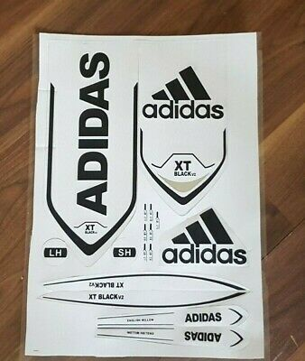 Cricket Bat Stickers Embossed - Adidas White • 9.99£