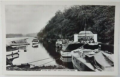 River And Cliffs. Radcliffe-on-Trent. Postcard. • 4£