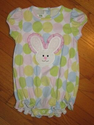 $14.99 • Buy Zuccini Easter Bunny Rabbit Bubble/Romper Size 24 Months